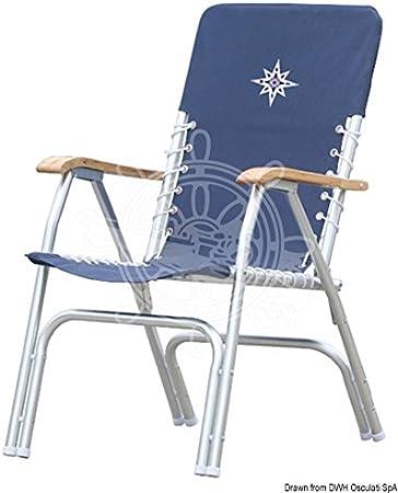 OSCULATI Sedia Pieghevole Alluminio Deck Blu: Amazon.it