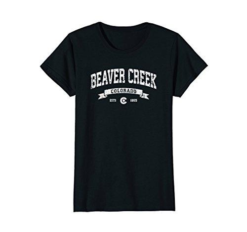 Womens Beaver Creek Colorado CO T-Shirt Distressed Vintage Tee 970 Medium - Creek Beaver Shops