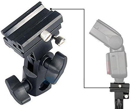 Nikon SB600 SB800 y SB900 580EX II 600EX-RT Godox Flash Bracket Speedlite Monte Swivel Light Stand Soporte para paraguas Studio inclinable para Canon 430EX II