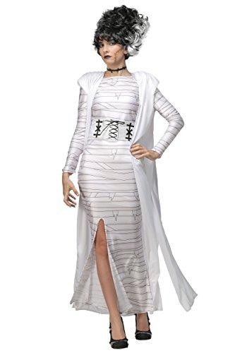 Plus Size Bride of Frankenstein Costume for Women 1X White]()