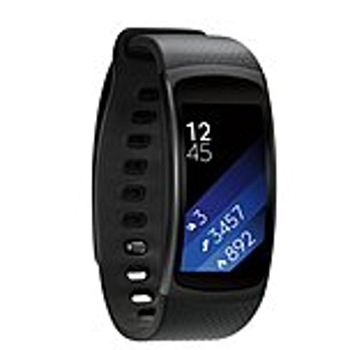 (Samsung SM-R3600DAAXAR Gear Fit 2 Activity Tracker Digital Watch - Large - Heart Rate, Steps Taken, Distance Traveled - GPS - Music, Running, Gym, Tracking - Water Resistant)
