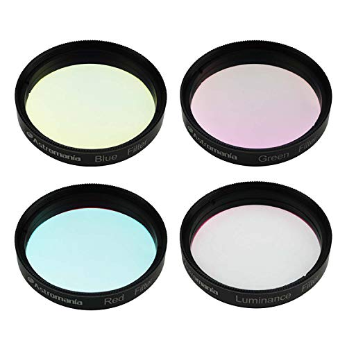 Astromania Deluxe Telescope LRGB 2 Inch Filter Set - Colour Filters for Use with Monochrome CCD Cameras - Give Stunning Astrophotographic Results