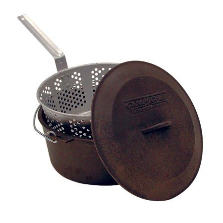 Camp Chef 7-Qt. Seasoned Cast-Iron Pot - Chef Pot Set Camp