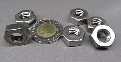 50 Pcs of 3//8-16 x 1//4 Height x 5//8 W 18-8 Stainless Steel Hex Nut RH