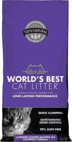 World's Best Cat Litter, Scented Clumping Litter Formula for Multiple Cats, 28-Pounds (Best Clumping Cat Litter For Multiple Cats)