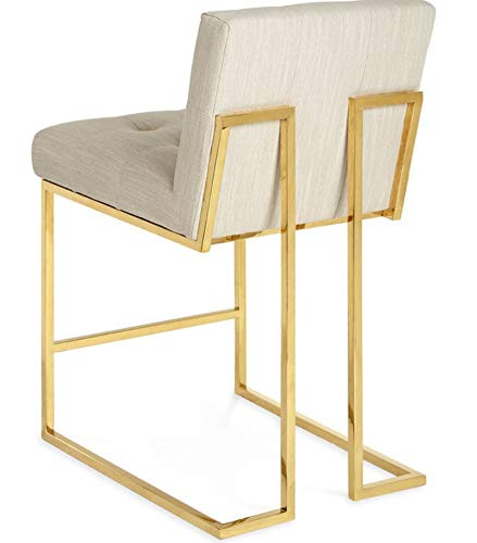 Kraftsmen Metal Frame Modern Tufted Velvet bar/Counter Stool