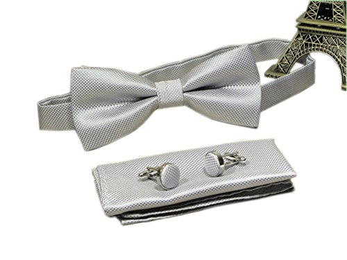 Men's Silver Grey Bow Ties Funny Adult Formal Sunny Boy Bowties Dad Father Gifts from Ctskyte