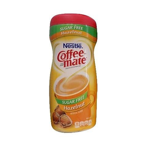 Coffeemate Sugar Free Hazelnut 10.2 OZ ,Pack of