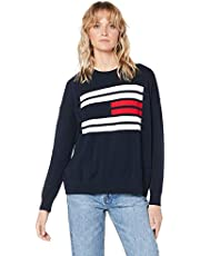 Tommy Hilfiger Women's Essential Flag Design Jumper
