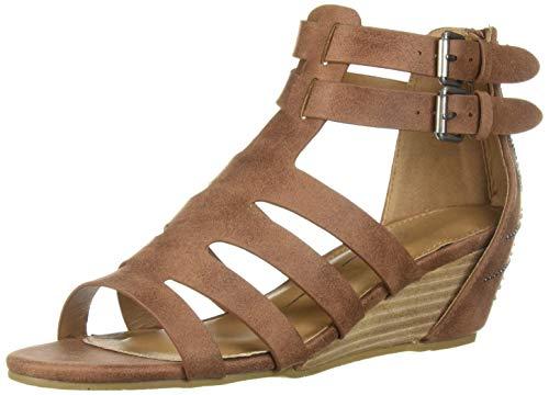 Report Women's Monroe Wedge Sandal Dark tan 10 M -