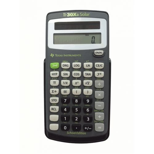 Texas Instruments TI-30XA Solar School Edition Calculator (Scientific Calculator Ti30xa)