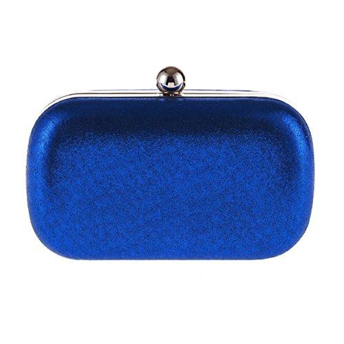 16X9X5 Blue nbsp;CLUTCH PARTY CLIPFRAME WEDDING BAG HARDCASE COCKTAIl PU 5cm O6nTC