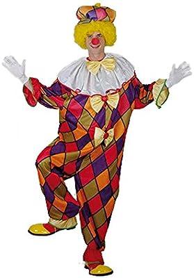 El Carnaval Disfraz Payaso bufon Rombos Adulto: Amazon.es ...