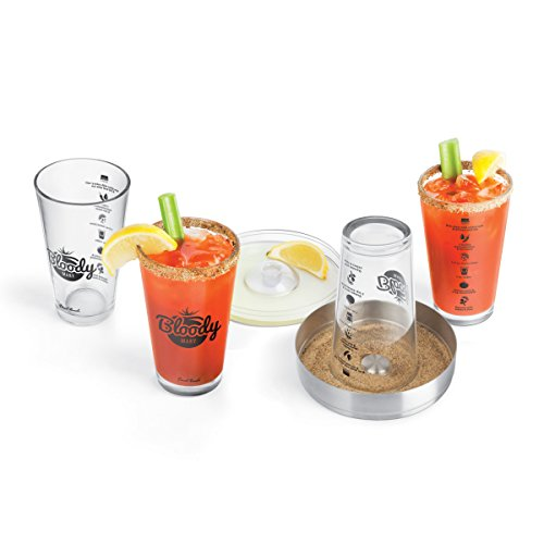 Final Touch Glass 6 Piece Bloody Mary Bar Set ()