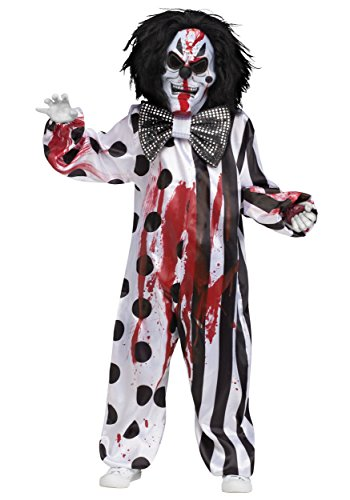 Fun World Bleeding Killer Clown Childrens Costume, Medium, Multicolor]()