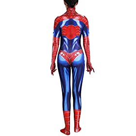 - 41FM 2BV2SxmL - Rieknic Womens Superhero Spandex Zentai Halloween Cosplay Costumes Adult/Kids
