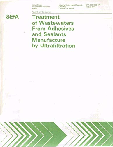 Treatment of Wastewaters from Adhesives and Sealants Manufacture by Ultrafiltration