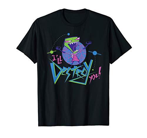 Invader Zim I Will Destroy You - Invader Tee Zim Shirts