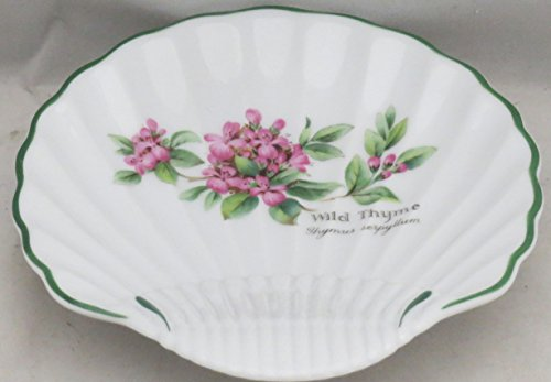 Royal Worcester Herbs Green Trim Small Shell Dish (Wild ()