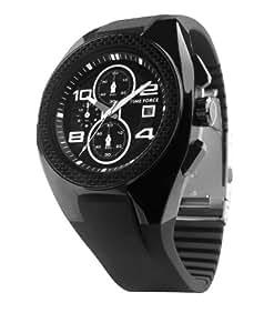 Time Force TF3079M01 - Reloj analógico de caballero de cuarzo con correa negra - sumergible a 100 metros