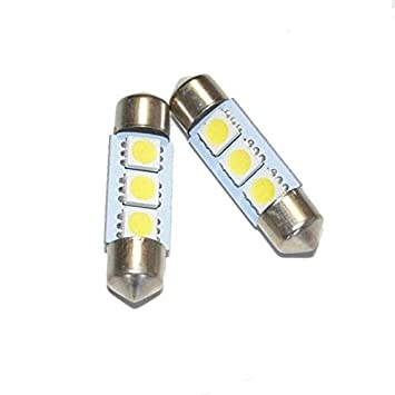 Unipower TMT LEDS(TM) 2 X BOMBILLAS LED FESTOON 39MM 3 SMD 5050 ...