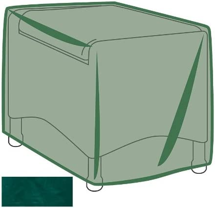 Plow Hearth Outdoor Furniture All-Weather Cover for Ottoman – Green