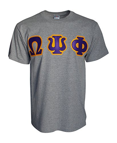 Mega Greek Mens Omega Psi Phi Letter T-Shirt Large ()