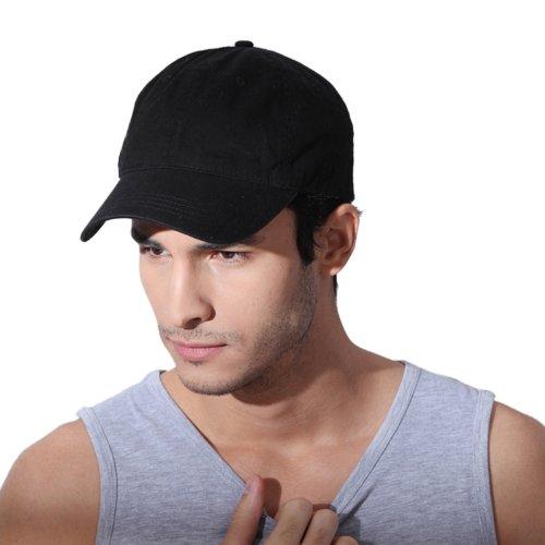 beada7b2e15 Men Women Fitted Curved Bill Plain Solid Blank Baseball Cap Caps Hat Hats  (black khaki and navy blue) - Buy Online in UAE.