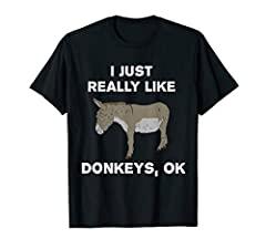 Buy now! This cute animal apparel aims to make your friends and family smile. Show your farmer pride with this donkey tee today!