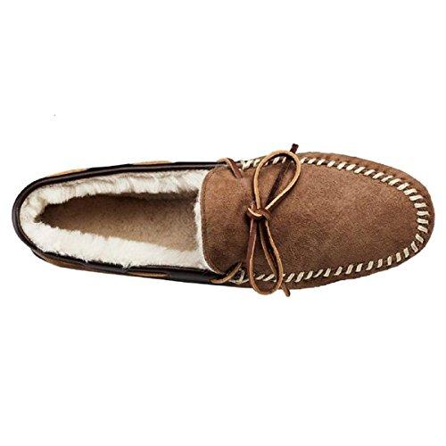 Allen Edmonds Mens Sandman Shearling Tofflor Loafers, Naturlig 8,5 E