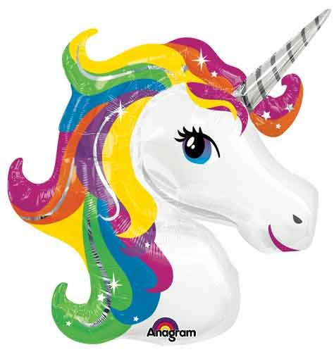 Single Source Party Supplies Rainbow Unicorn Shape Mylar/Foil Balloon (Lisa Frank Unicorn)