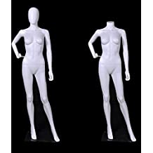 Female Full Body Durable Plastic Abstract Egg Head Mannequin With Movable Head White (EF17)