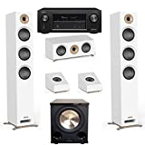Jamo Studio Series 3.1.2 White Home Theater System with S 809 Towers and Denon AVR-X3400H Receiver