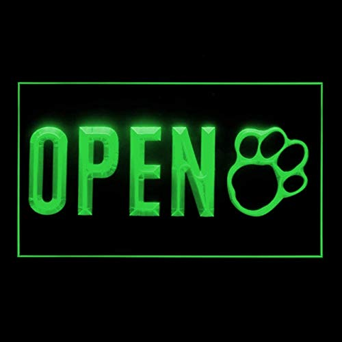 210225 Open Pet Shop Dog Cat Grooming Display LED Light Sign