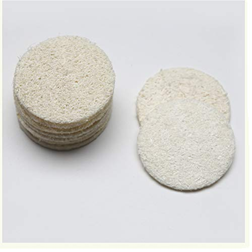 Ziitai 30 pcs/set Natural Exfoliating Face Pads - Loofah Remove Dead Skin Cleansing Brushes Exfoliating Face Scrubber Makeup Sponges Remover Pads