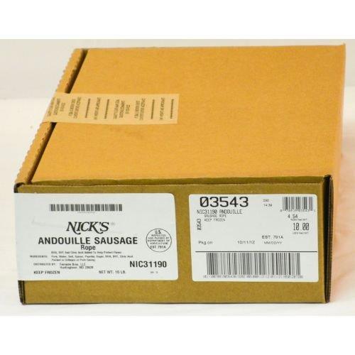 Nicks Cajun Andouille Sausage Rope, 10 Pound -- 1