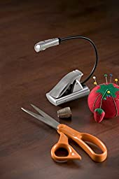 LIGHT IT by Fulcrum 20010-301 LED Wireless Multi Flex Clip On Task Light and Book Light, Silver