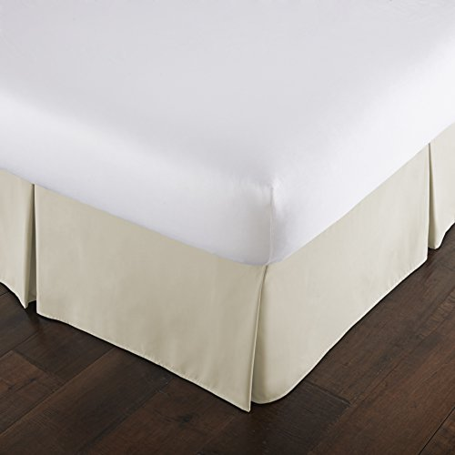 Pleated Linen (Southshore Fine Linens - VILANO Springs - 15 inch Drop Pleated Bed Skirt, Off White, California King)