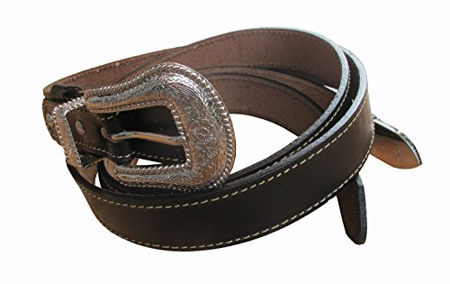 Danai Presents. VERY 6 PCS X NICE BELT @ BUCKLE GENUINE LEATHER SILVER TONE by Thai (Image #1)