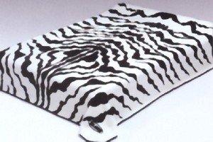Black White Zebra Print Solaron Korean Thick Mink Plush Blanket - Fedex Shipping Ground Time