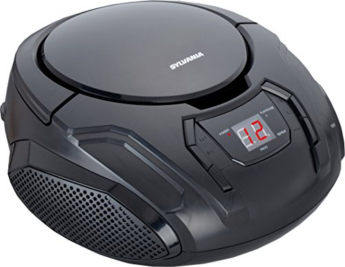 Sylvania Portable CD Boombox with AM/FM Radio (Black) (Cd Portable Radio compare prices)