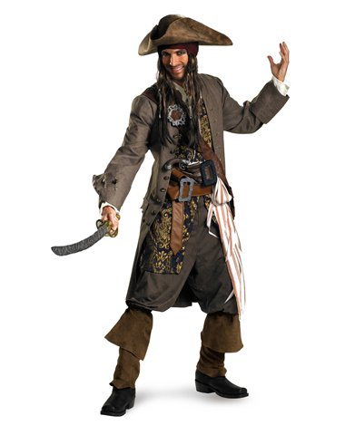 Theatrical Quality Costumes Adults (Captain Jack Sparrow Theatrical Adult Costume - XX-Large)