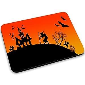 Halloween 10001, Castillo, Designer Alfombrilla de Ratón Mouse Mouse Pad con Diseño Colorido. Tamaño 250 x 190 mm.