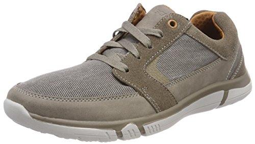 Skechers Men's Edmen-Riston Sneaker,Gray,10.5 M US (Sneakers Canvas Skechers)