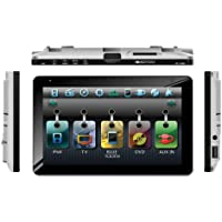 Soundstream VR-738NBT Bluetooth Enabled Single-DIN In-Dash DVD Receiver with 7 Touchscreen and USB/SD Inputs and Built-In Analog TV Tuner