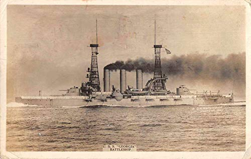 USS Georgia Battleship Military Real Photo Vintage Postcard AA732