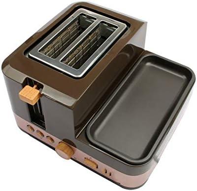 Électrique Petit Déjeuner Pain Cuisson Machine 2 Tranches Grille-pain Four Oeufs Vapeur Saucisse Grill Torréfacteur Omelette Poêle Poêle Chauffage