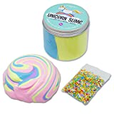 Dot Dash Dot Unicorn Fluffy Slime with rainbow balls - Non toxic EU CERTIFIED slime - Unicorn gifts...