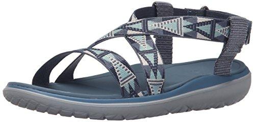 Teva Damen W Terra-Float Livia Sandale Mosaik Weinlese-Blau