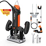TACKLIFE Plunge and Fixed Base Router, 30,000RPM Compact Router Kit, 6 Variable Speed